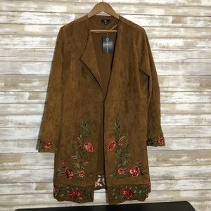 Curations NWT short embroidery duster